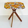 Petit mobilier ... table d'appoint vintage * lucie