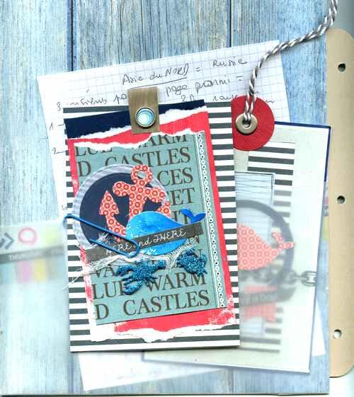 la pochette et son tag (avec carte et consignes