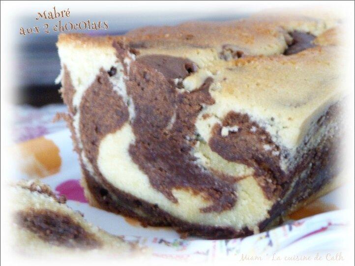 """ღ """" Miam """" Marbré aux deux chocolats"""