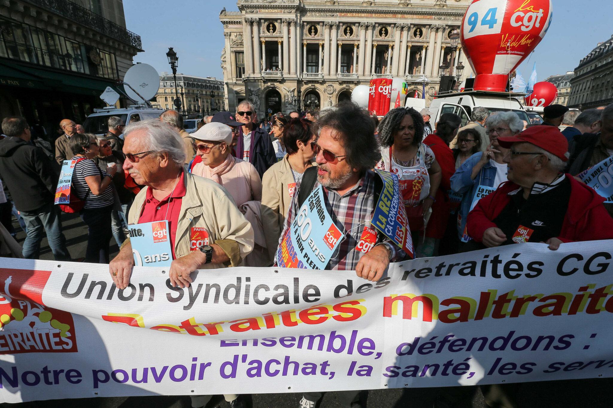 Les retraités manifestent ce jeudi pour défendre leurs « pensions en danger ». © Michel Stoupak. Jeu 18.10.2018, 13h25m42.
