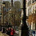 Atmosphère sur le quai d'Orléans.