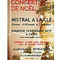 Concert de noel dimanche 10 decembre 16h00 auditorium petrucciani