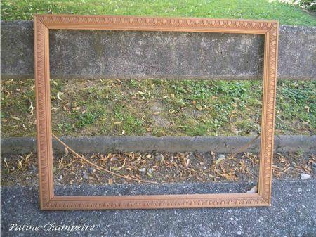 cadre bois sculpté