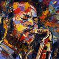 Ornette Coleman - painting by Debra Hurd