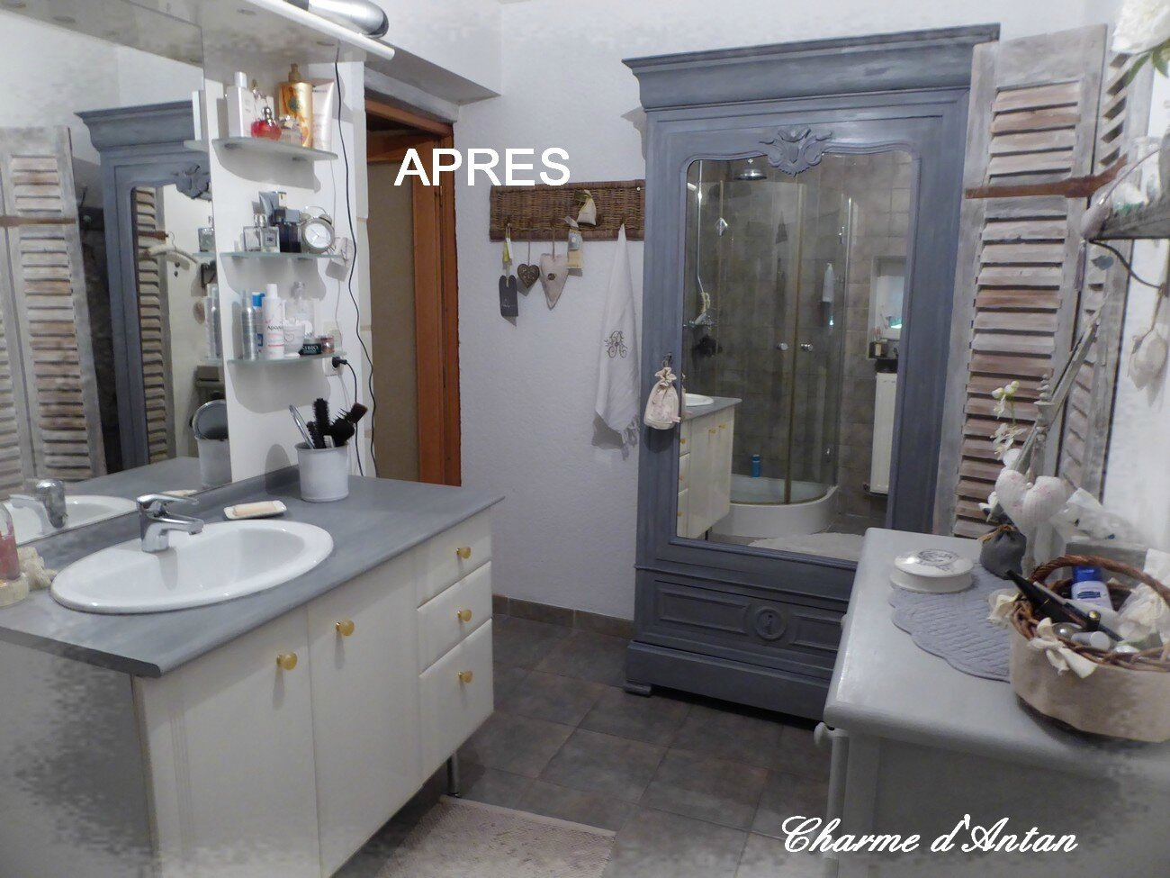 salle de bain relook e avec peintures annie sloan photo de peinture annie sloan charme d 39 antan. Black Bedroom Furniture Sets. Home Design Ideas