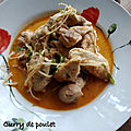 Curry de poulet aux pousses de pois