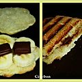 Paninis banane / choco-caramel
