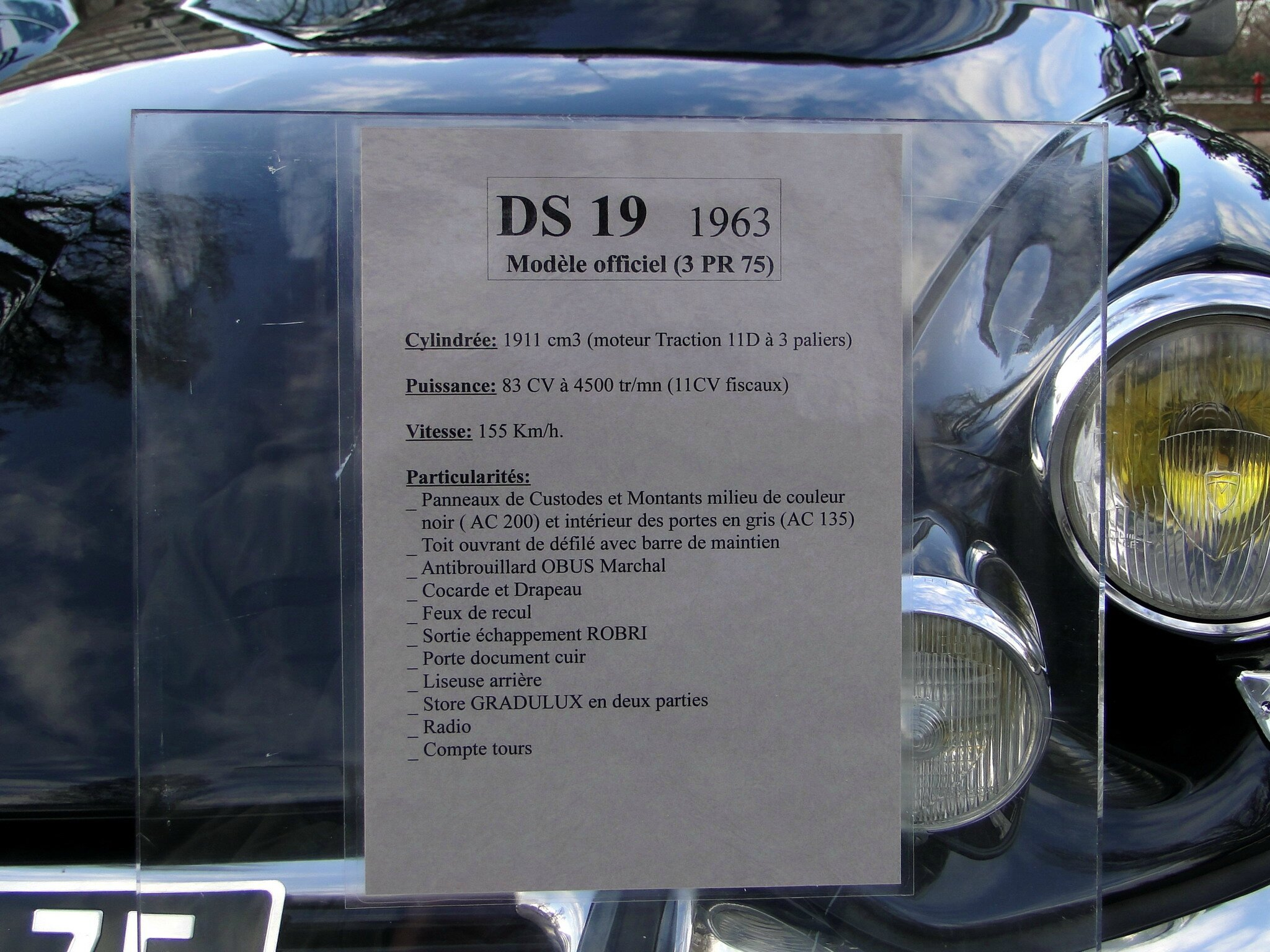 citro u00ebn ds 19 mod u00e8le officiel-1963
