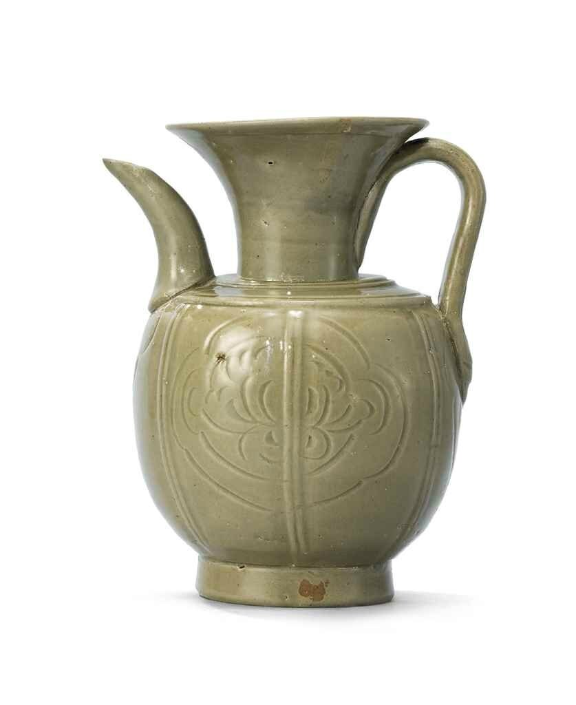 A Yue moulded and incised ewer, Northern Song dynasty (960-1127)