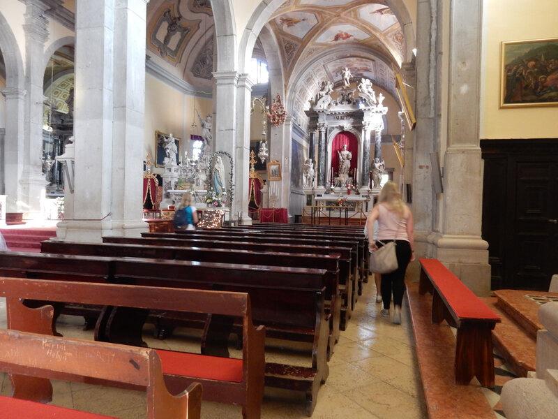 Rovinj, l'intérieur de la cathédrale Sainte-Euphémie 25 octobre 2019