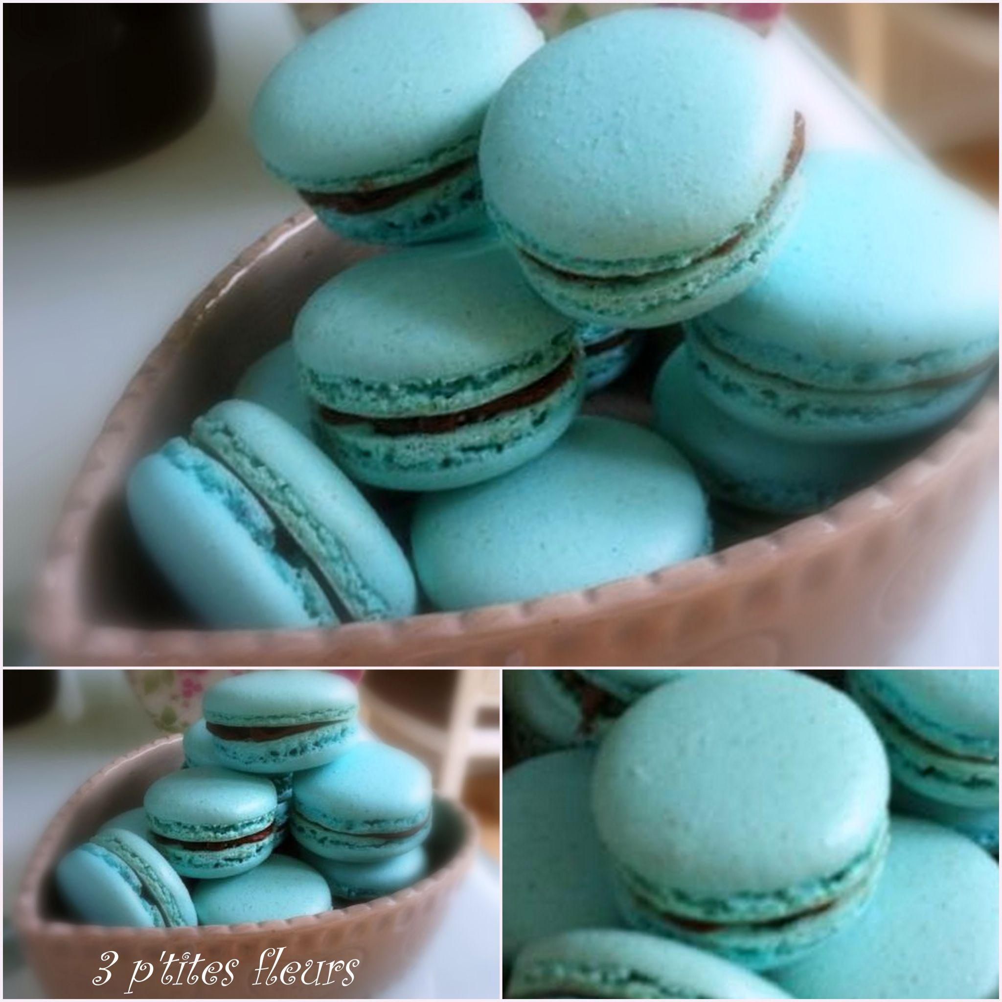 macarons turquoise au nutella
