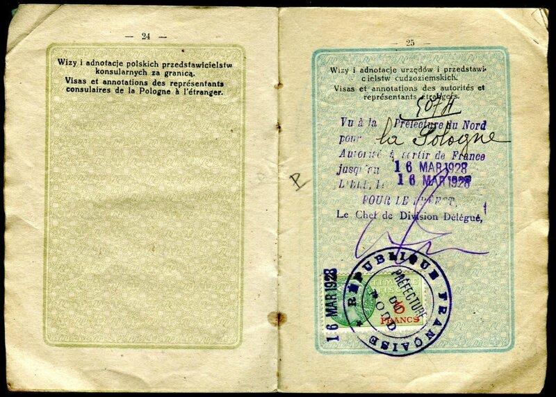 5 francs visa 1928