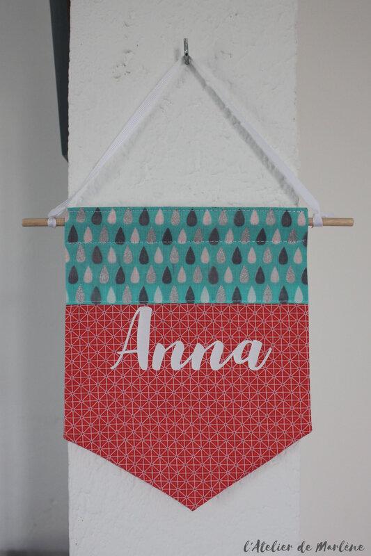 fanion décoration personnalisé chambre d enfant