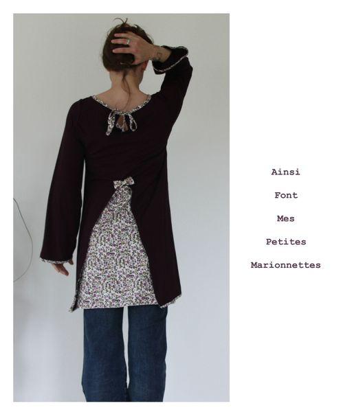 tunique elegante jersey violet 5