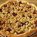 Crumble pomme-framboise