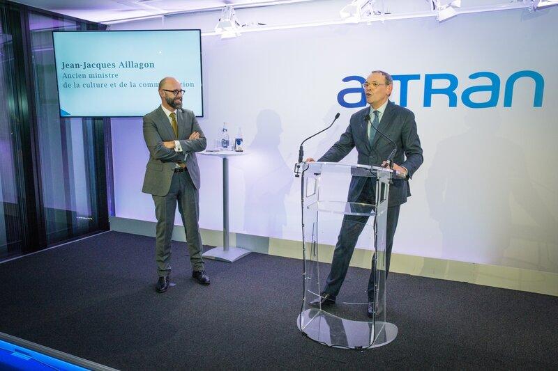 Frédéric Fougerat et Jean-Jacques Aillagon, ancien ministre culture et communication