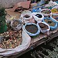 L'étal des épices du marchés des mouches