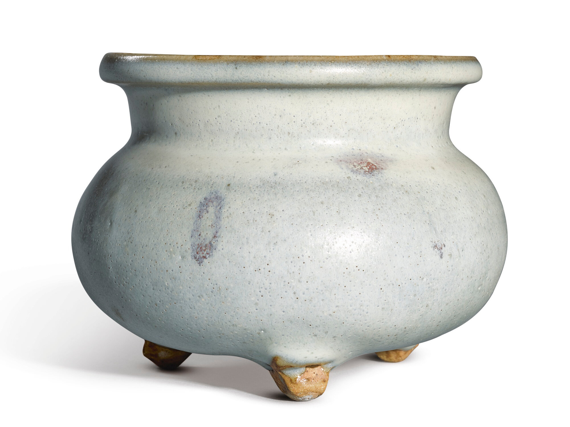A purple splashed 'Jun' tripod censer, Yuan dynasty