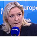 Marine le pen, présidente du front national sur europe 1 le 20/05/2016