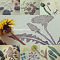 Challenge 100 jours de gravure : semaine florale