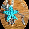 Collier étoile de mer bleue