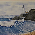 Paysage marin à l'aquarelle - hommage à terry harrison watercolor seascape