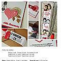 Projet 8 : mini-album kraft & rouge