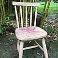 chaise enfant avant relooking