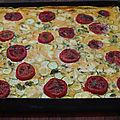 Tarte aux courgettes et aux tomates