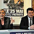 Lille : marine le pen en campagne contre le «cauchemar» européen