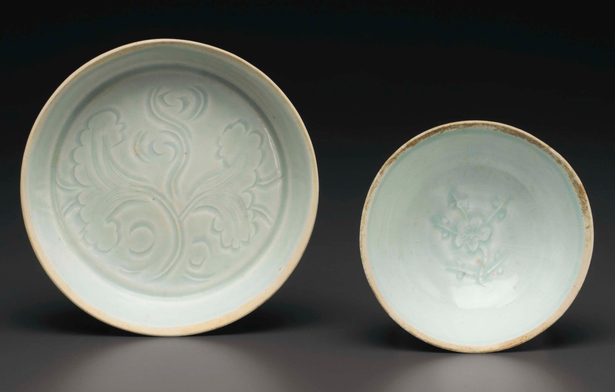 Two Qingbai vessels, Southern Song-Yuan Dynasty, 12th-13th century