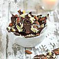 Croquants au chocolat noir {cranberries, amandes & gingembre} # cadeau gourmand noël