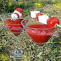 Gaspacho de fraises à la rose