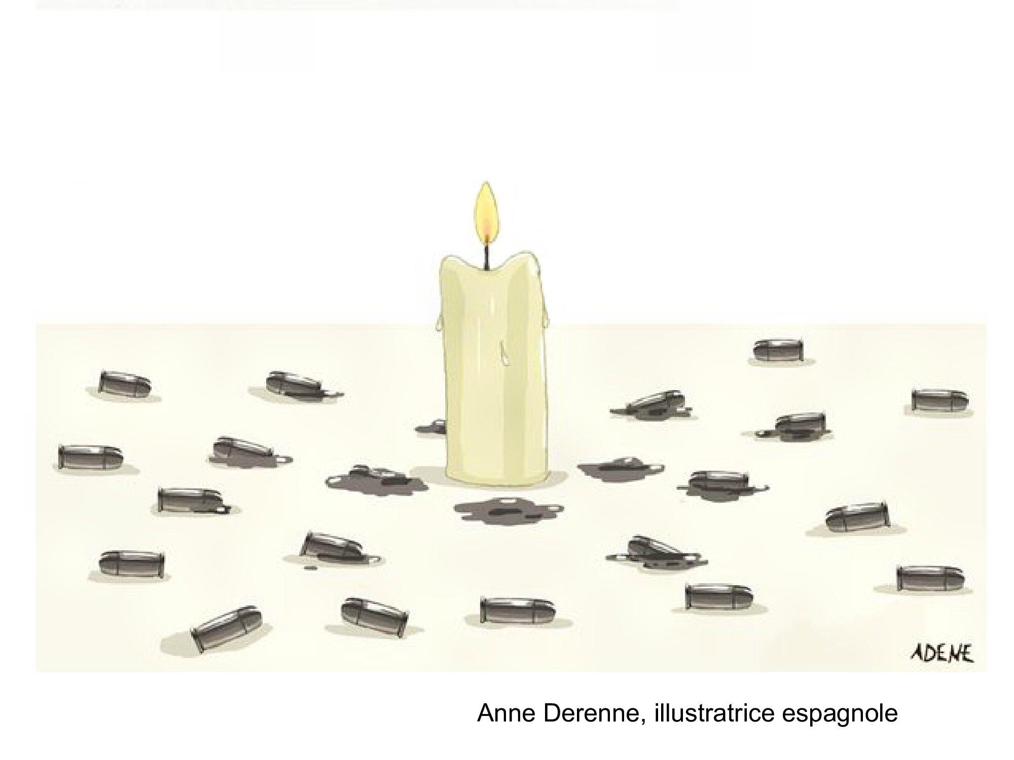 HOMMAGE des dessinateurs aux victimes des attentats de Paris 13 novembre 2015 (8)
