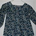 blouse encolure carrée et patte de boutonnage mitsy encre