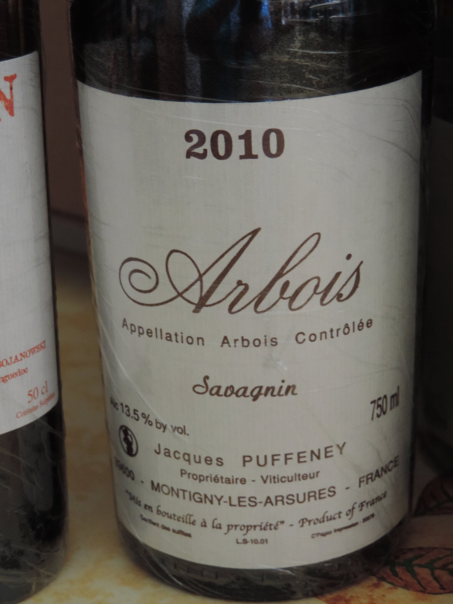 "domaine Jacques Puffeney 2010 arbois ""savagnin"""