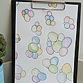 Aquarelle originale bulles