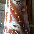 Tuile décorée thème Salamandres