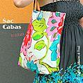 proposé par Couture : un nouveau sac Okinawa avec des flamants roses - le coffre de Scrat et Gloewen, couture, lecture, DIY, illustrations...