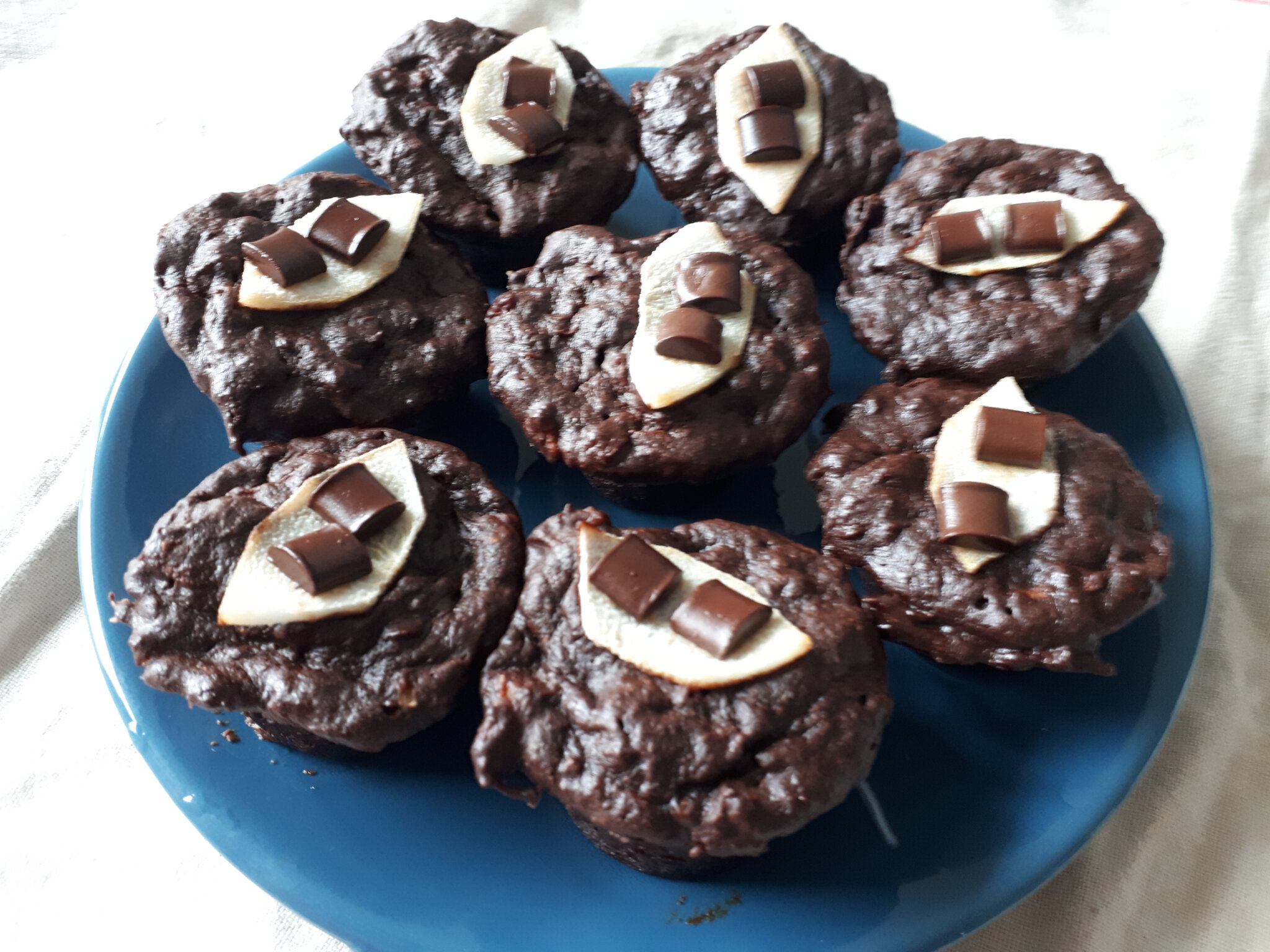 Muffins Choco Banane Poire (Micro-ondes)