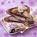 Croque banane-chocolat