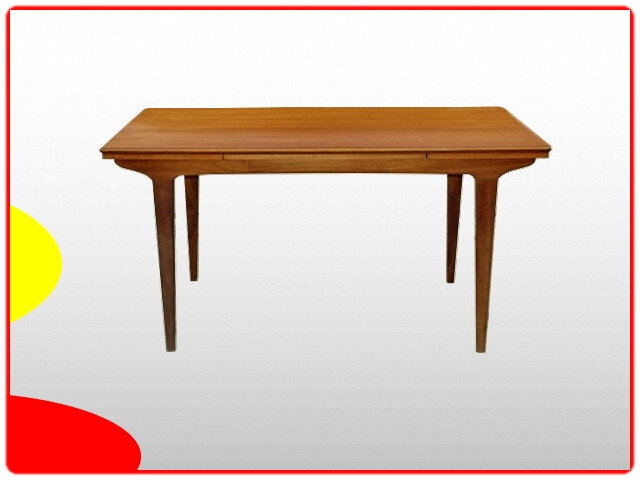 Table scandinave teck 1960 extensible