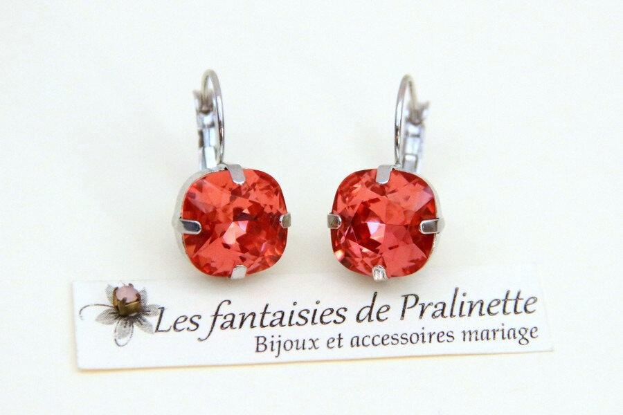 bijoux-mariage-soiree-temoin-cortege-bocules-d-oreilles-Soline-cristal-rose-pêche-rhodié