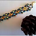 SIRIUS bracelet bleu or2