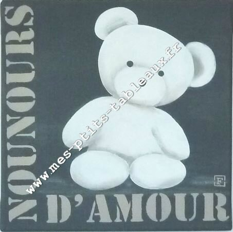 Nounours d'Amour Coloris Anthracite
