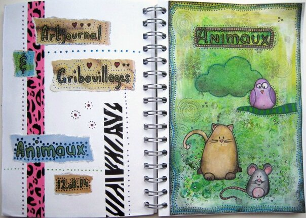 artjournal gribouillages animaux