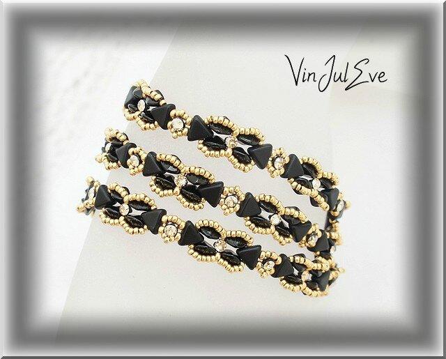 bracelet Mirano noir or1