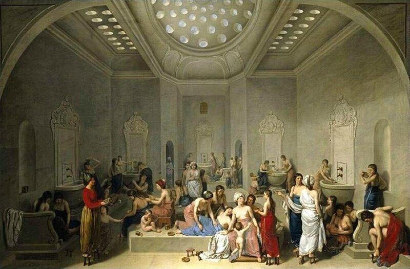 A-Female-Turkish-Bath-Or-Hammam-1785