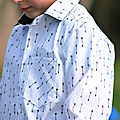 En noir et blanc #2 - la chemise aux flèches et joli duo.