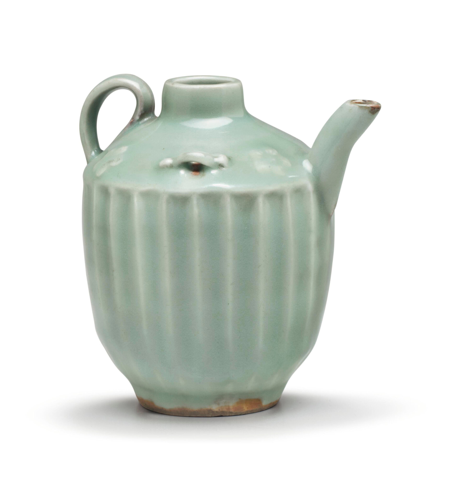 An unusual Longquan celadon ewer, Southern Song dynasty (1127-1279)